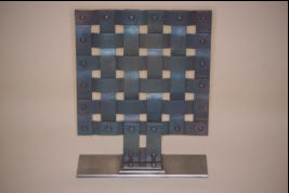 Metal Basket Weave sculpture