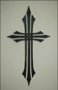 Metal Cross Sculpture