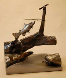 Trout Sculpture