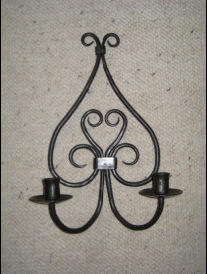 Heart Scroll Candle Holder ~ essentialiron.com
